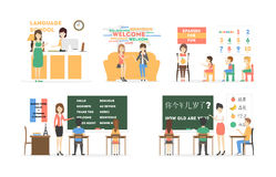 Language course set. Royalty Free Stock Photos