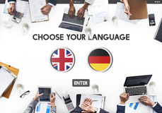 Language Dictionary English German Concept Royalty Free Stock Photography