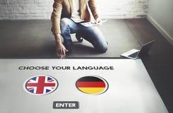 Language Dictionary English German Concept Royalty Free Stock Photo