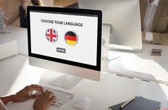 Language Dictionary English German Concept Stock Photography