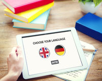Language Dictionary English German Concept Stock Photo