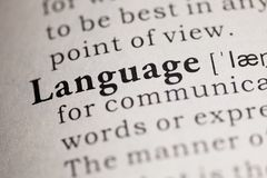 Language. Fake Dictionary, Dictionary definition of the word Language Royalty Free Stock Images