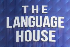 The Language House Sign Board. Symbol royalty free stock photo