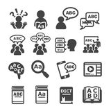 Language icon. Icon set of language usage in human,for education,for every media,etc Royalty Free Stock Photos