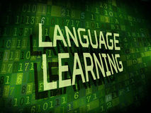 Language learning words  on digital background Royalty Free Stock Images