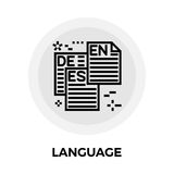 Language Line Icon Royalty Free Stock Photo