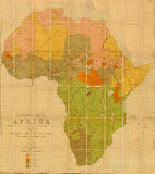 Language map of Africa. Prepared by E G Ravenstein in 1883 Stock Photography