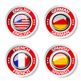 Language pointer for web. Illustration - see also my portfolio Stock Images