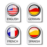 Language pointer for web Stock Image