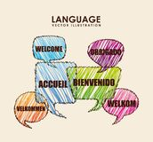 Language poster design Stock Photos