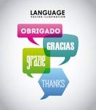 Language poster design Royalty Free Stock Photo