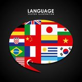 Language poster design Royalty Free Stock Image