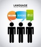 Language poster design Royalty Free Stock Photography