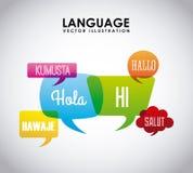 Language poster design Royalty Free Stock Photos