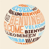 Language poster design Stock Photo
