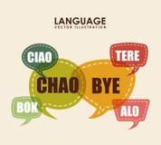 Language poster design Stock Photography
