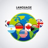 Language poster design Royalty Free Stock Photos