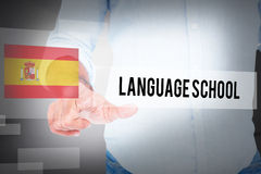 Language school against abstract white room Royalty Free Stock Images