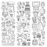 Language school Kids, chidlren, boys and girls. Happy students learning english, spanish, german, italian, arabic. Languages College, university, kindergarten stock illustration