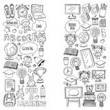 Language school Kids, chidlren, boys and girls. Happy students learning english, spanish, german, italian, arabic. Languages College, university, kindergarten royalty free illustration