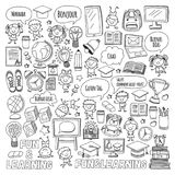 Language school Kids, chidlren, boys and girls. Happy students learning english, spanish, german, italian, arabic. Languages College, university, kindergarten Royalty Free Stock Image