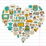 Language school Kids, chidlren, boys and girls. Happy students learning english, spanish, german, italian, arabic. Languages College, university, kindergarten Stock Photo