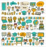 Language school Kids, chidlren, boys and girls. Happy students learning english, spanish, german, italian, arabic. Languages College, university, kindergarten Stock Photos