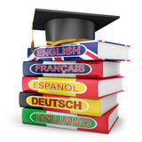 Language textbooks Royalty Free Stock Image