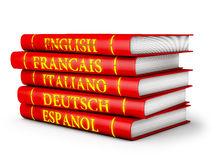 Language textbooks. In red on a white background Royalty Free Stock Photography
