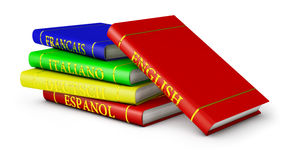 Language textbooks Stock Photography