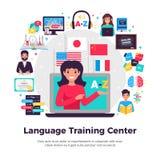 Language Training Center Composition Stock Images