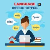 Language Translator Illustration Royalty Free Stock Image
