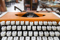 Language typewriter Thai Stock Photo