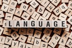 Language word concept stock photo