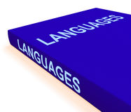 Languages Book Shows Books About Language. Languages Book Showing Books About Language Stock Photos