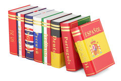 Languages Books, 3D rendering. On white background Stock Photography