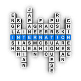 Languages crossword Royalty Free Stock Photography