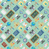 Languages education and school learning seamless pattern Stock Photos