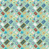 Languages education and school learning seamless pattern Stock Photography
