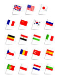 Languages Flag Set Stock Photo