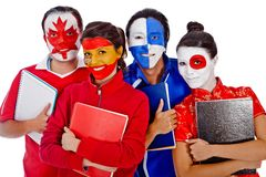 Languages students Stock Photo