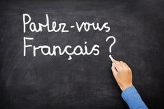 Langue de apprentissage française Photo libre de droits