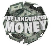 Langue de l'étude de comptabilité de budgétisation de finances d'argent Images libres de droits
