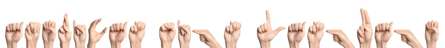 Langue des signes américaine d'expression d'apparence de femme images stock