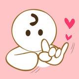 Langue des signes je t'aime Photo stock