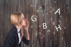 Langue étrangère. Concept - apprenant, parlant, Photographie stock libre de droits