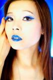 Languettes bleues image stock