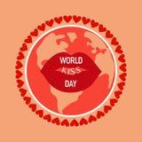 Languettes de baiser de rouge illustration libre de droits