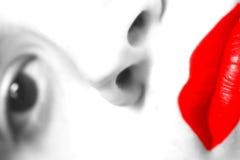 Languettes de rouge de femme Image libre de droits