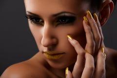 Languettes jaunes images stock